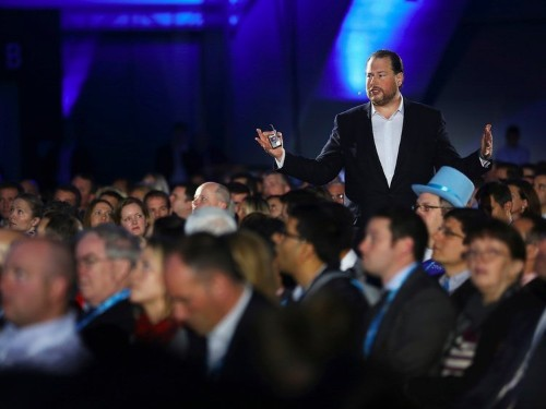 Salesforce just stole Oracle's thunder on the eve of Oracle's huge annual conference