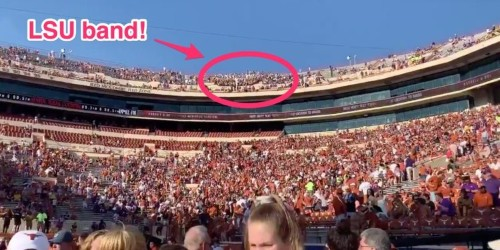 Texas forced the LSU band to sit in the nosebleed seats in the pettiest move of the college football weekend