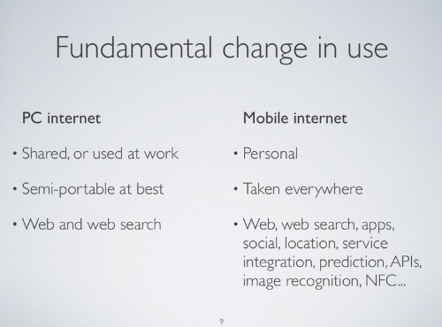 Here's An Excellent Presentation About The Rise Of Mobile And The Massive Implications