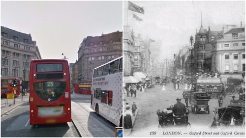 7 side-by-side photos that show how dramatically London has changed in the last 100 years