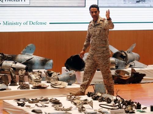 Saudis say missile parts in oil plant attack prove Iran's involvement