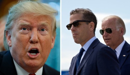 Trump hopes 'they release' his Ukraine call about Joe and Hunter Biden