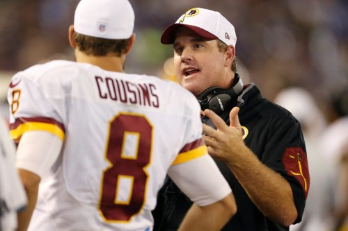 Redskins head coach blames the wind for why Kirk Cousins throws so many interceptions