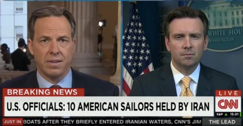 CNN's Jake Tapper confronts White House press secretary after Iran holds US soldiers in custody