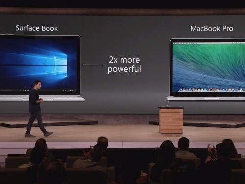 There are some big caveats to Microsoft's claim that its new laptop is faster than a MacBook Pro
