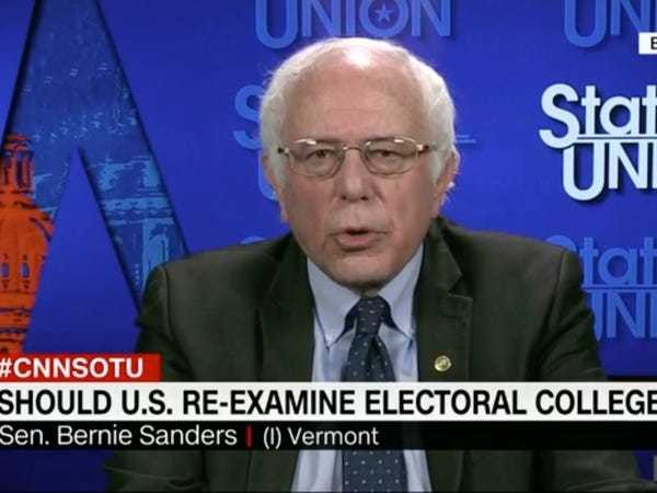 BERNIE: We need to reexamine the Electoral College after Hillary Clinton's loss - Business Insider