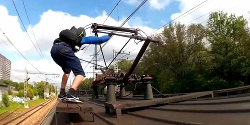 TRAIN SURFING: This terrifying Russian craze involves teens riding on top of trains traveling over 150 mph