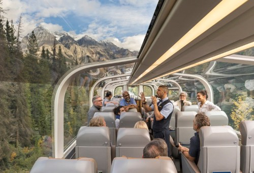 Take scenic trip in glass-domed train through Canadian Rockies
