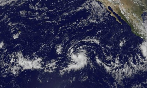 Hurricane Olaf forms in the eastern Pacific