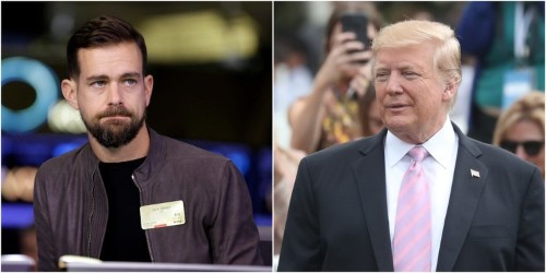 Jack Dorsey reportedly reassured Trump that Twitter isn't deliberately deleting his followers, and said his follower count fell because the platform is purging bots and spam accounts