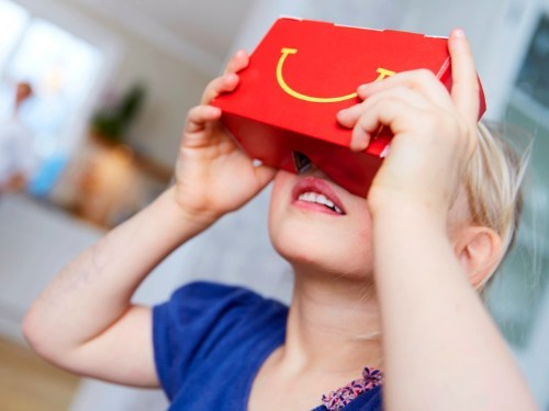 McDonald's latest Happy Meal transforms into a virtual reality headset