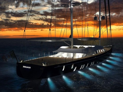 Step aboard the Helios, an award-winning yacht with a secret in its sails