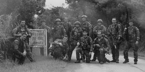 Army Green Berets train airmen at Marine jungle warfare center Okinawa
