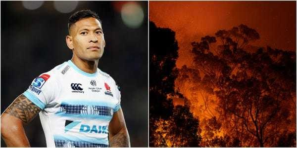 "Israel Folau: deaths in Australia's bushfires are ""God's judgement"" - Business Insider"