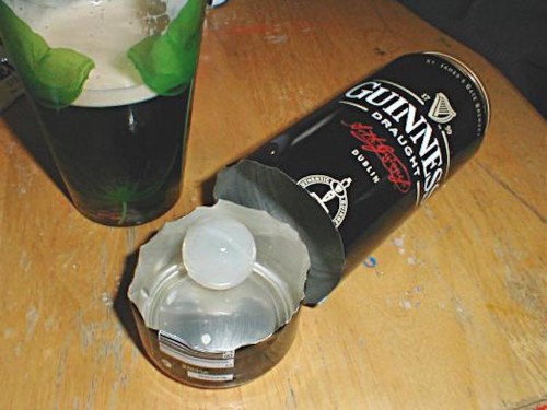 Here's why there's a weird plastic ball in a can of Guinness