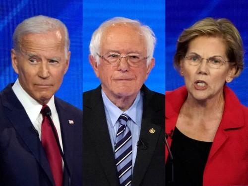 What if Biden, Bernie, and Warren were the only 2020 democrats left?