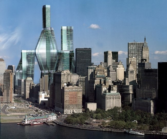 The new World Trade Center could have been a 70-story interconnected 'city in the sky'