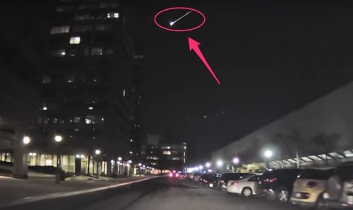 A spectacular 'fireball' was spotted burning up in the Northeast sky