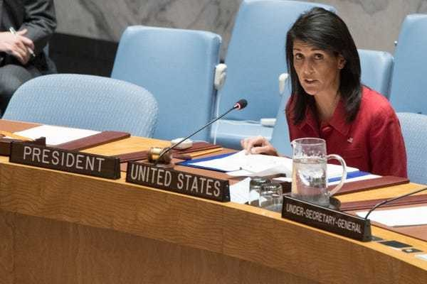 US to the UN: Go ahead and try to tell us how to handle Jerusalem, 'we don't care' - Business Insider