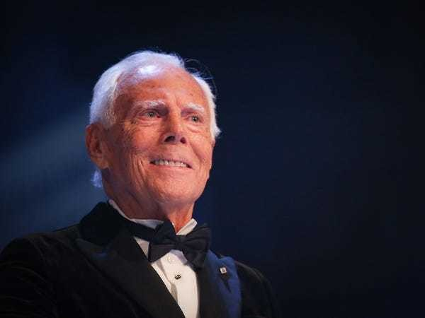 Giorgio Armani doesn't believe Forbes' ranking of his net worth - Business Insider