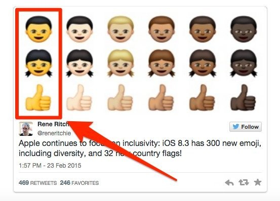 No, the new yellow-faced human emoji aren't racist. Here's why