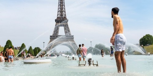 Europe heat wave: People swim, strip, stand in freezer aisle to cope