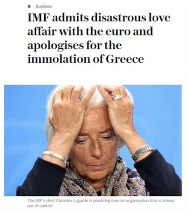The IMF made Greece a sacrificial lamb to save the euro - Business Insider