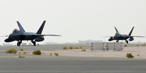US Air Force F-22 stealth fighters have returned to the Middle East amid a tense standoff with Iran