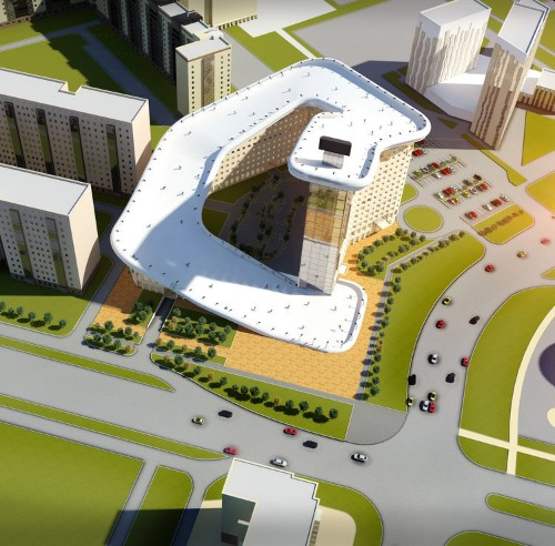 This apartment building could have a 1,000-foot ski slope on its roof