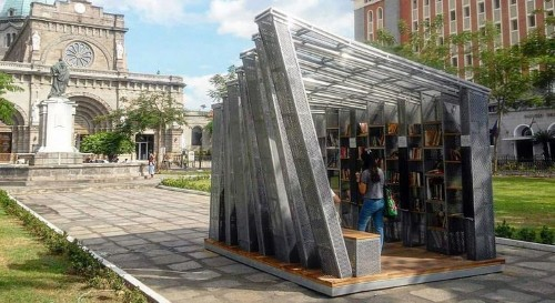 This beautiful outdoor micro-library can pop up anywhere