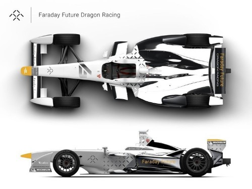 Mysterious electric car startup Faraday Future just unveiled a crazy new concept car for the Formula E series