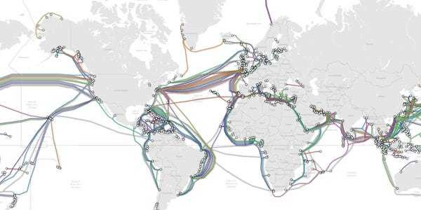 Map shows extent of undersea internet cables that Russians could cut - Business Insider