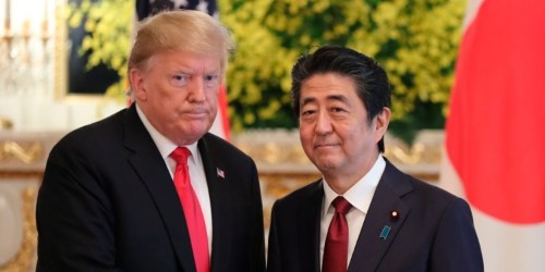 Trumps says the US suffers 'tremendous imbalance' with Japan on trade but is hopeful they can reach a deal