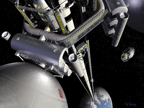 How a 'space elevator' could work on Earth or the moon