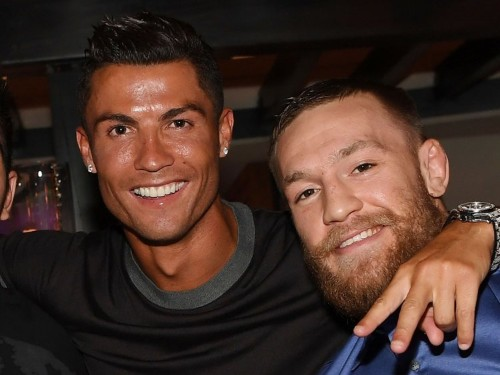 Conor McGregor praised 'inspiring' Cristiano Ronaldo, saying: 'We are both disciplined athletes at the top of our game'