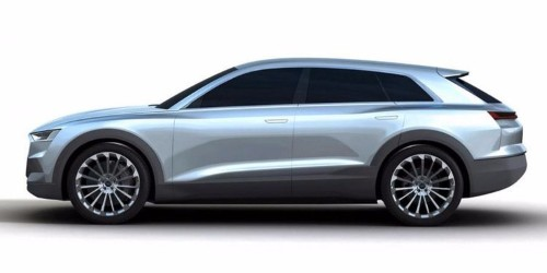 These are the first images of Audi's answer to Tesla's Model X SUV