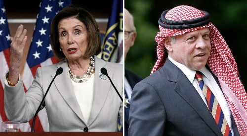 Pelosi meets with Jordan's King Abdullah II amid Syria crisis - Business Insider