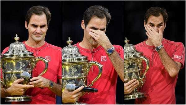 Roger Federer reduced to tears after winning another record - Business Insider