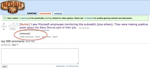 After Microsoft Denied It Hires People To Vote On Reddit, Reddit Removed A Controversial Post