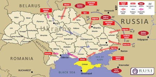 MAP: This Is What A Russian Invasion Of Ukraine Could Look Like