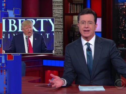 Stephen Colbert calls out Donald Trump for apparent Bible goof