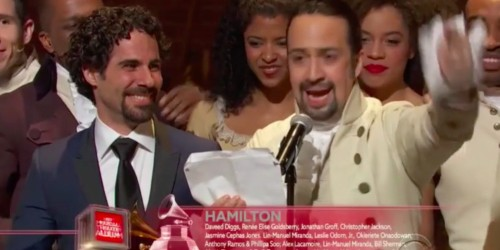 We transcribed the entire 'Hamilton' Grammy acceptance rap for you — here it is