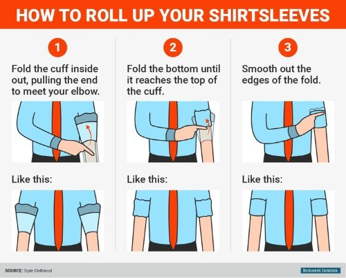 The right way to roll up your shirtsleeves