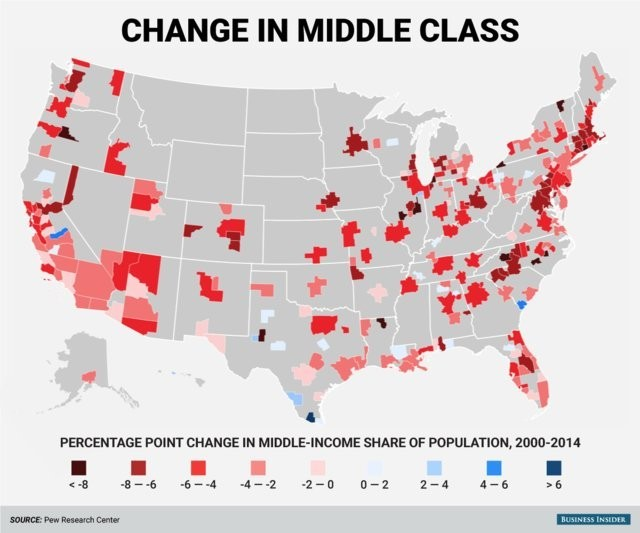 Pew Research Center metro area middle class