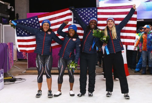American Bobsledder's Awesome Reaction To Winning A Silver Medal Included A Snow Angel