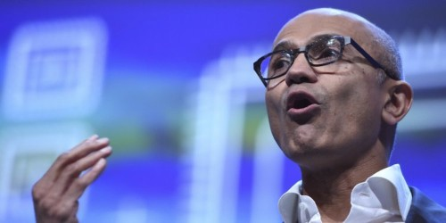 Microsoft CEO Satya Nadella took a subtle swipe at Amazon and other rivals by calling the uses of facial recognition 'terrible'