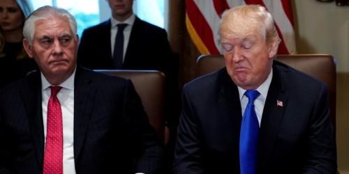 Trump denies Putin embarrassed him at their first meeting, calls his former top diplomat 'dumb as a rock'