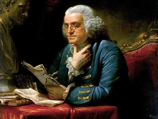 How following Benjamin Franklin's weekly plan could change your life - Business Insider