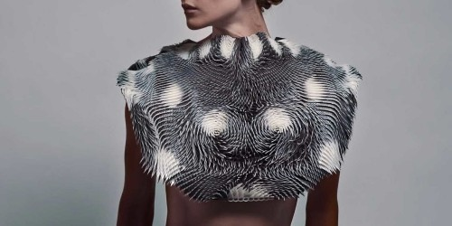 This eerie vest changes its shape every time someone looks at it