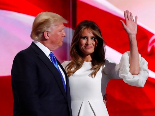 Melania Trump's speech appeared to lift from parts of Michelle Obama's 2008 convention address